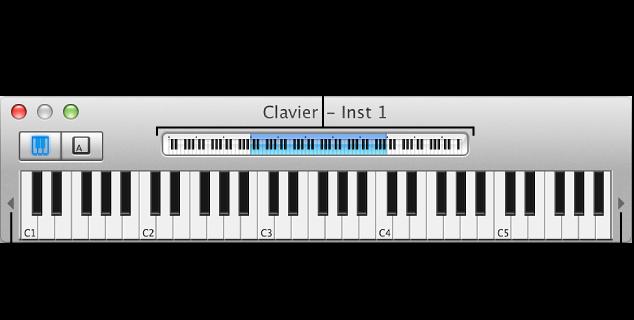 Figure. Clavier à l'écran.