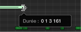 Figure. Modification de la taille d'une note dans l'éditeur clavier