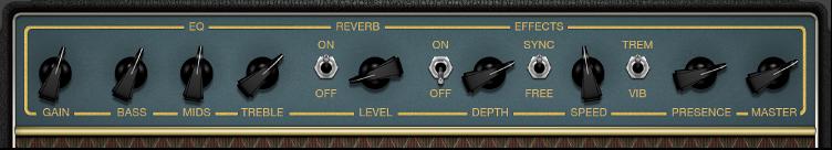 Figure. Commandes d'ampli dans AmpDesigner