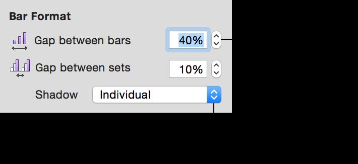 Bar Format controls in Chart inspector