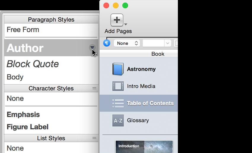 Кнопка панелі стилів на смузі форматування