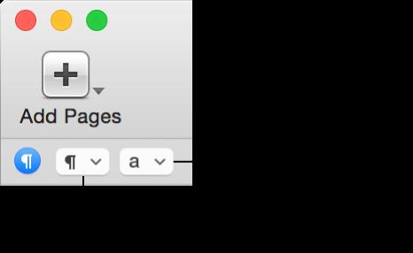 Спливні меню стилів абзаців і символів на смузі форматування