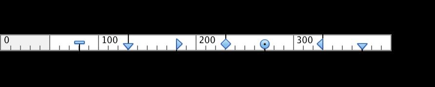 Biểu tượng thước cho tab và mức thụt lề