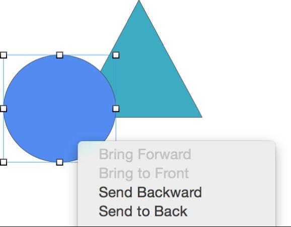Hai đối tượng được tạo lớp có tùy chọn menu hiển thị