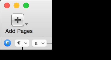 格式栏中的段落样式和字符样式弹出式菜单