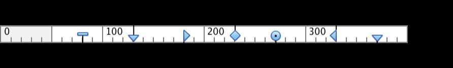 制表符和缩进的标尺符号