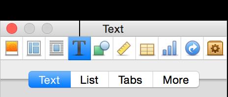 「檢閱器」視窗上方的「文字檢閱器」按鈕