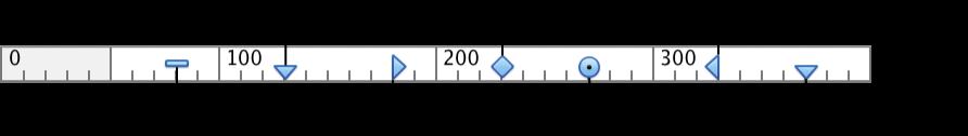 標籤和縮排的尺標符號