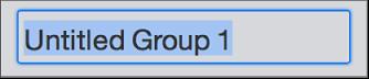 Textové pole Vytvořit skupinu