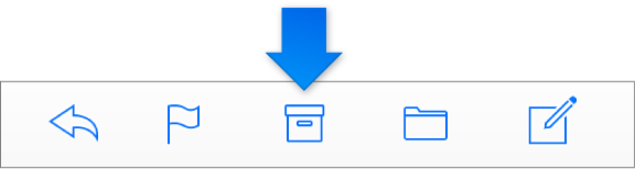 The Archive button in the toolbar