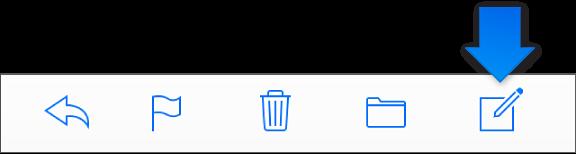 도구 막대에 있는 새 메시지 버튼