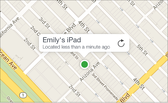 나의 iPhone 찾기 지도에 있는 기기