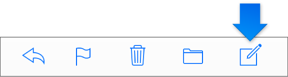 Кнопка «Нове повідомлення» на панелі інструментів