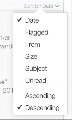 """""""排序方式""""菜单选项。"""