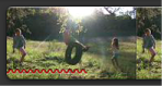 Image of a red squiggly line marking a video clip.
