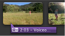 Image of the purple bar representing a voiceover.
