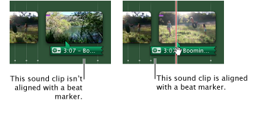 Image of sound clips and beat markers