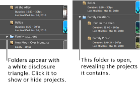 Image of folders in the Project Library