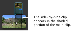 Image of a side-by-side clip in the Project browser.