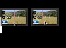 Imagem de alguns ícones relacionados com a velocidade num clip de vídeo