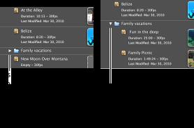 Imagem das pastas na biblioteca de projectos