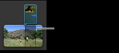 Imagem de um clip de imagem na imagem no navegador de projectos.