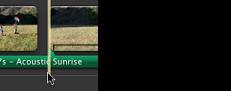 Imagem do ponto de associação num clip de áudio.