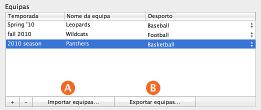 """Imagem dos botões """"Importar equipas"""" e """"Exportar equipas"""""""