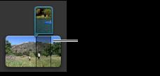 Imagem de um clip lado a lado no navegador de projectos.