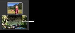 Imagem de um clip de acção secundária no navegador de projectos.