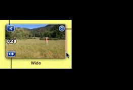 Imagem dos ícones num clip