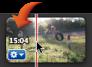 Imagem de um código de tempo num clip de vídeo