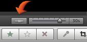 Imagem do botão da forma de onda do áudio