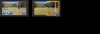 Imagem da pega de selecção laranja num clip