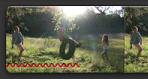 Röd snirklig linje som markerar ett videoklipp.