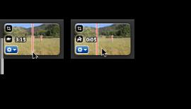 Några hastighetssymboler i ett videoklipp