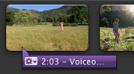 表示 Voiceover 的紫色列影像。