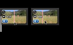 視訊剪輯片段中某些速度相關圖像的影像