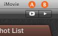 """預告片樣板中的""""播放""""按鈕。"""