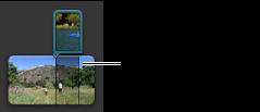 """""""計畫案""""瀏覽器中並排剪輯片段的影像。"""