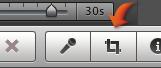"""""""裁剪""""按鈕的影像。"""