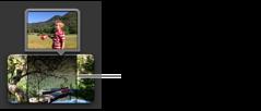 """""""計畫案""""瀏覽器中切出剪輯片段的影像。"""