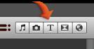 """""""字幕""""按鈕的影像"""