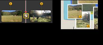 標示橘色編號的靜態影格影像