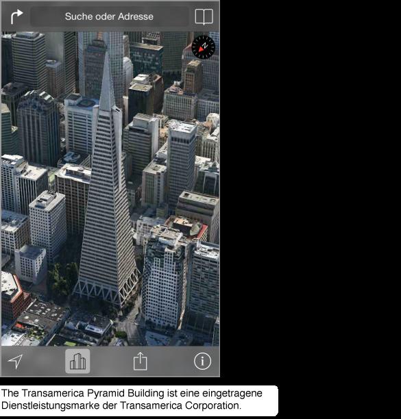 Luftaufnahme der Innenstadt von San Francisco.