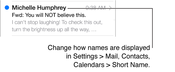 A message preview with 5 lines showing.