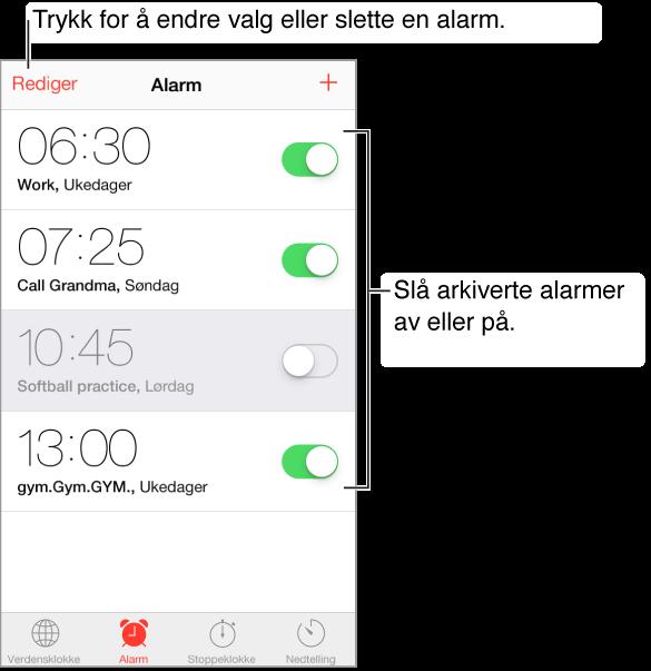 arkiverte meldinger iphone