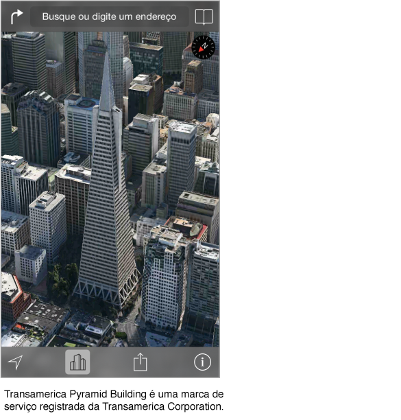 Uma foto aérea do centro da cidade de San Francisco.