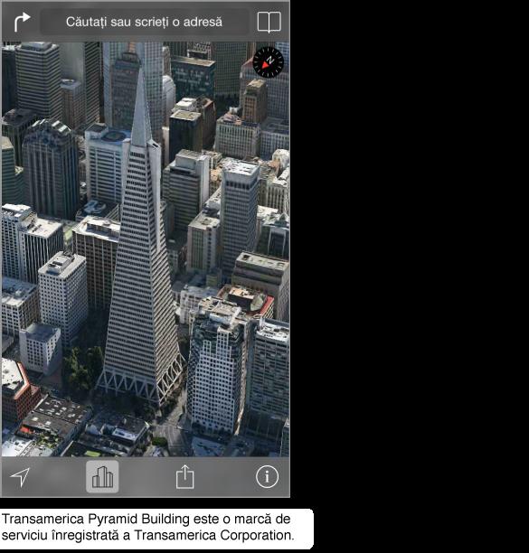 O poză aeriană a centrului orașului San Francisco.