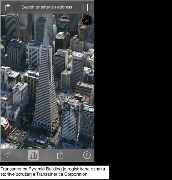 Posnetek središča mesta San Francisco iz zraka.